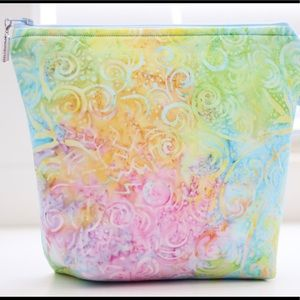 Beautiful Bakin fabric cosmetic bag. 1 of a kind